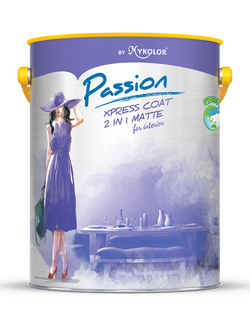 MYKOLOR PASSION | XPRESS COAT 2 IN 1 MATTE | FOR INTERIOR